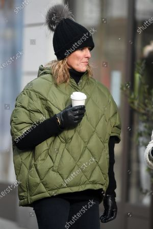 Editorial image of Gabby Logan out and about, London, UK - 11 Feb 2021