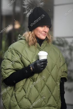 Editorial picture of Gabby Logan out and about, London, UK - 11 Feb 2021