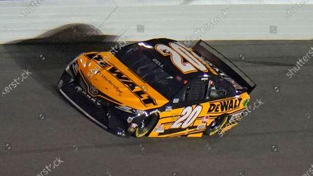 Christopher Bell (20) runs during a NASCAR Daytona 500 qualifying session, at Daytona International Speedway in Daytona Beach, Fla