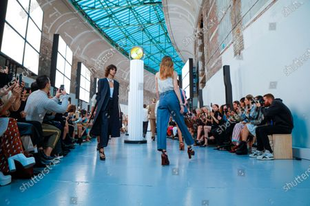 Model on the catwalk at the Chloe Fashion show in Paris, Spring Summer 2020, Ready to Wear Fashion WeekCollection designed by Natacha Ramsay-Levi