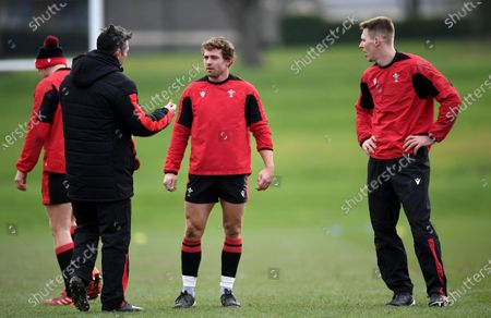 Stock Picture of Stephen Jones, Leigh Halfpenny and Liam Williams during training.