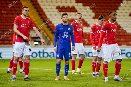 Chelsea forward Christian Pulisic (10) during the FA Cup 5th round match between Barnsley and Chelsea at Oakwell, Barnsley
