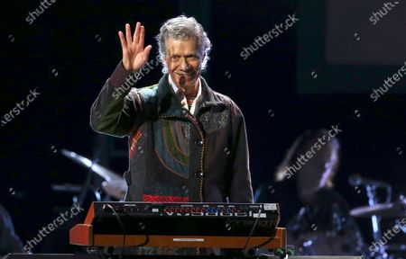 Chick Corea performs at the 62nd annual Grammy Awards on Jan. 26, 2020, in Los Angeles. Corea, a towering jazz pianist with a staggering 23 Grammy awards who pushed the boundaries of the genre and worked alongside Miles Davis and Herbie Hancock, has died. He was 79. Corea died, of a rare for of cancer, his team posted on his web site. His death was confirmed by Corea's web and marketing manager, Dan Muse