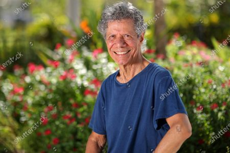 "Jazz pianist and composer Chick Corea poses for a portrait in Clearwater, Fla., on Sept. 4, 2020, to promote his new double album ""Plays."" Corea, a towering jazz pianist with a staggering 23 Grammy awards who pushed the boundaries of the genre and worked alongside Miles Davis and Herbie Hancock, has died. He was 79. Corea died, of a rare for of cancer, his team posted on his web site. His death was confirmed by Corea's web and marketing manager, Dan Muse"