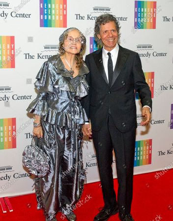 Chick Corea and his wife, Gayle, arrive for the formal Artist's Dinner honoring the recipients of the 2013 Kennedy Center Honors hosted by United States Secretary of State John F. Kerry at the U.S. Department of State in Washington, D.C.. The 2013 honorees are: opera singer Martina Arroyo; pianist, keyboardist, bandleader and composer Herbie Hancock; pianist, singer and songwriter Billy Joel; actress Shirley MacLaine; and musician and songwriter Carlos Santana.