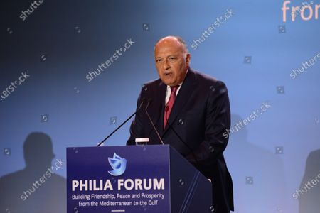 Minister of Foreign Affairs of the Republic of Egypt Dr. Sameh Hassan Shoukry at Philia Forum.
