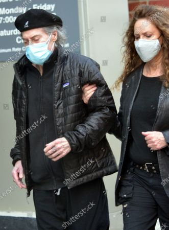Stock Picture of Exclusive - Richard Lewis and Joyce Lapinsky seen wearing their masks in Beverly Hills