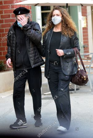 Editorial photo of Exclusive - Richard Lewis and Joyce Lapinsky out and about, Los Angeles, California, USA - 11 Feb 2021