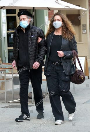 Stock Image of Exclusive - Richard Lewis and Joyce Lapinsky seen wearing their masks in Beverly Hills