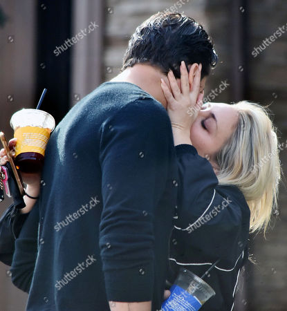 Editorial photo of Gleb Savchenko and girlfriend Cassie Scerbo out and about, Los Angeles, California, USA - 11 Feb 2021