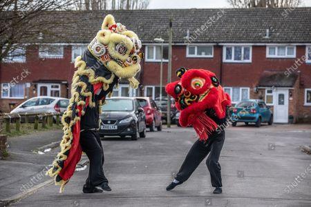 Editorial image of Chinese New Year, Aldershot, Hampshire, UK - 11 Feb 2021