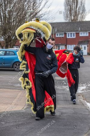 Editorial picture of Chinese New Year, Aldershot, Hampshire, UK - 11 Feb 2021