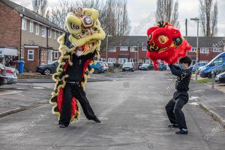 Editorial photo of Chinese New Year, Aldershot, Hampshire, UK - 11 Feb 2021