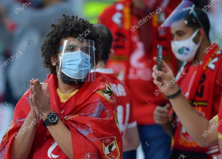 Supporters of Al Ahly SC are seen during the FIFA Club World Cup 3rd place match between Egypt's Al Ahly SC and Brazil's SE Palmeiras at the Education City Stadium in Doha, Qatar, Feb. 11, 2021.