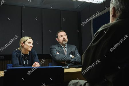 Stock Picture of Morven Christie as DC Lisa Armstrong, Daniel Ryan as DI Tony Manning and James Cosmo as Bill Bradwell