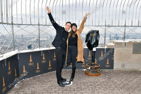 Editorial image of Tayshia Adams and Zac Clark visit the Empire State Building, New York, USA - 12 Feb 2021