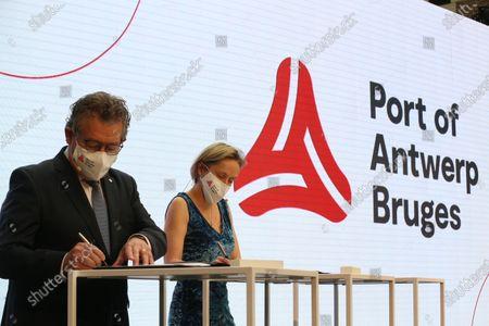 Editorial picture of Antwerp Merger Zeebrugge And Antwerp Ports Pc, Antwerpen, Belgium - 12 Feb 2021