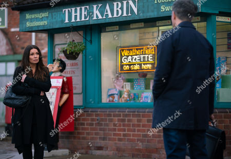Coronation Street - Ep 10258 Wednesday 24th February 2021 - 2nd Ep Lucas, as played by Glen Wallace, tells Carla Connor, as played by Alison King, that Sarah gave a great sales pitch and as a result, she'll be seeing a lot more of him. Carla paints on a smile.