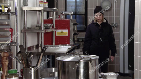 Coronation Street - Ep 10250 Monday 15th February 2021 - 2nd Ep Abi Franklin, as played by Sally Carman, breaks into the bistro and finds the signed contract on the kitchen floor. Will she find Kevin and Debbie?