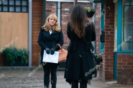 Coronation Street - Ep 10256 Monday 22nd February 2021 - 2nd Ep Jenny Connor, as played by Sally-Ann Matthews, persuades Carla Connor, as played by Alison King, to join her for a glass of wine and send Sarah to the business meeting in Harrogate in her place.