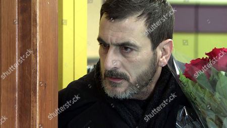 Coronation Street - Ep 10255 Monday 22nd February 2021 - 1st Ep As Carla Connor and Lucas go over her sales strategy, neither of them notices Peter Barlow, as played by Chris Gascoyne, approaching with a bunch of flowers. What will he discover?