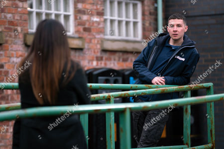 Coronation Street - Ep 10265 Friday 5th March 2021 - 1st Ep Carla Connor, as played by Alison King, warns Jacob, as played by Jack James Ryan, to back off Simon Barlow. Will he agree?