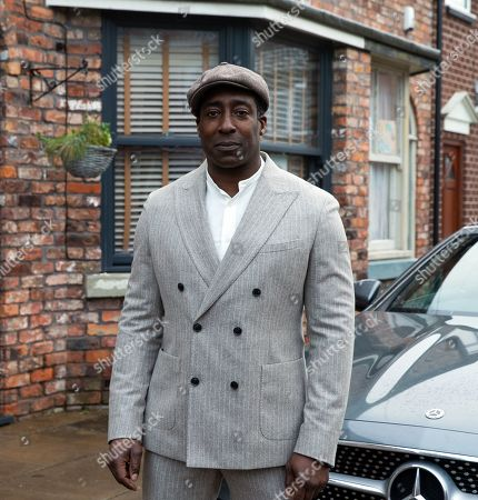 Coronation Street - Ep 10253 & Ep 10254 Friday 19th February 2021 Ronnie Bailey, as played by Vinta Morgan, pulls up at No.3 in his flash sports car. Ed Bailey and Michael Bailey are thrilled to see him.