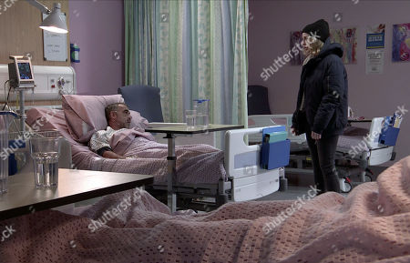 Coronation Street - Ep 10252 Wednesday 17th February 2021 - 2nd Ep Overcome with emotion and grateful that he's still alive, Abi Franklin, as played by Sally Carman, gets down on one knee next to Kevin Webster's, as played by Michael Le Vell, hospital bed and proposes to him. Delighted, Kevin accepts.
