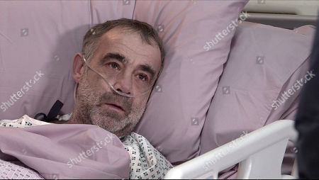 Coronation Street - Ep 10252 Wednesday 17th February 2021 - 2nd Ep Overcome with emotion and grateful that he's still alive, Abi Franklin gets down on one knee next to Kevin Webster's, as played by Michael Le Vell, hospital bed and proposes to him. Delighted, Kevin accepts.