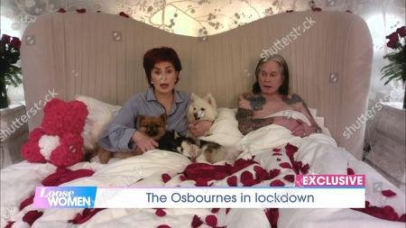 Stock Photo of Sharon Osbourne, Ozzy Osbourne