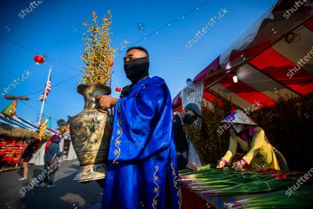 Editorial image of Preparing for Lunar New Year in Little Saigon, Little Saigon, Westminster, California, United States - 10 Feb 2021
