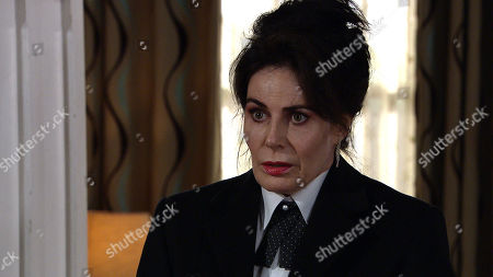 Emmerdale - Ep 8980 Thursday 25th February 2021 - 2nd Ep When Cain Dingle arrives back from the hospital Faith Dingle, as played by Sally Dexter, steps out from the front room and he reels. Faith begs for forgiveness, but he's fuming telling her she disgusts him and to get out of the house.