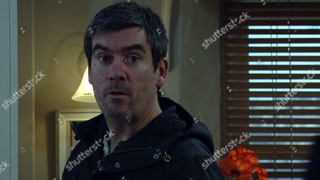 Emmerdale - Ep 8980 Thursday 25th February 2021 - 2nd Ep When Cain Dingle, as played by Jeff Hordley, arrives back from the hospital Faith Dingle steps out from the front room and he reels. Faith begs for forgiveness, but he's fuming telling her she disgusts him and to get out of the house.