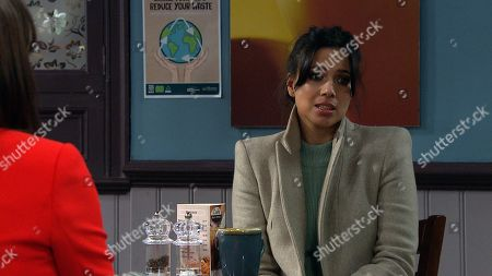 Stock Image of Emmerdale - Ep 8987 Friday 5th March 2021 Priya Sharma, as played by Fiona Wade, battles her conflicting emotions.