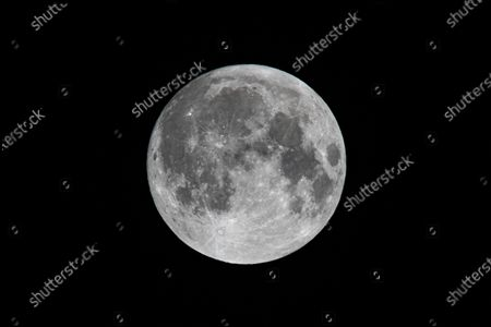 Editorial image of Full beaver moon of 2020, Eindhoven, The Netherlands - 30 Nov 2020