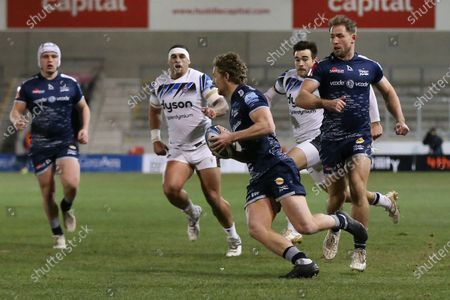 Sale Sharks Robert Du Preez  during the Gallagher Premiership Rugby match between Sale Sharks and Bath Rugby at the AJ Bell Stadium, Eccles