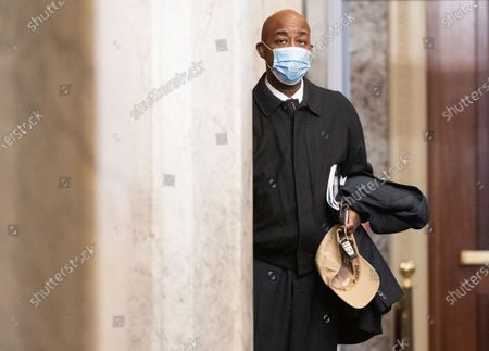 UNITED STATES - FEBRUARY 12: U.S. Senate Chaplain Barry Black arrives at the Capitol before the start of the impeachment trial in the Senate.