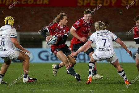 Gloucester Rugbys Billy Twelvetrees during the Gallagher Premiership Rugby match between Gloucester Rugby and Bristol Rugby at the Kingsholm Stadium, Gloucester