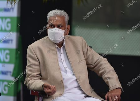 Union Minister of State for Panchayati Raj, Agriculture and Farmers Welfare Parshottam Rupala during the launch of India's first CNG tractor  at Motilal Nehru Marg on February 12, 2021 in New Delhi, India. The new tractor introduced today has been converted to CNG from diesel. Union Minister Gadkari is owner of the tractor that was converted to CNG and he was awarded the registration certificate by Dharmendra Pradhan, Minister of Petroleum & Natural Gas and Steel. The government claims that it will help farmers increase their income by lowering operating costs and help in creating job opportunities in rural India.