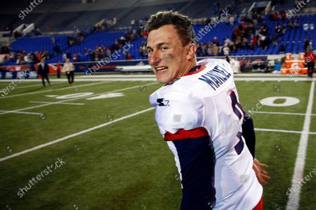 Memphis Express quarterback Johnny Manziel celebrates as he leaves the field after an AAF football game at Liberty Bowl Memorial Stadium in Memphis, Tenn. If you're really looking for something different: a fan-controlled football league is launching this weekend. It's sort of a video game meets pro wrestling meets arena football, allowing viewers to actually call plays for none other than Manziel