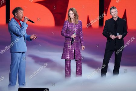 Stock Photo of Eddy de Pretto, Vanessa Paradis and Etienne Daho