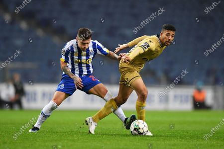Otávio of FC Porto beaten by the run from Angel Gomes of Boa Vista; Dragao Stadium, Porto, Portugal; Portuguese Championship Football, FC Porto versus Boa Vista.