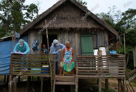 Editorial image of Virus Outbreak - Vaccination Amazon, Labrea, Brazil - 12 Feb 2021