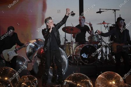 French singer Benjamin Biolay performs on stage during the 36th Victoires de la Musique, the annual French music awards ceremony, at the Seine Musicale concert hall in Boulogne-Billancourt, on the outskirts of Paris