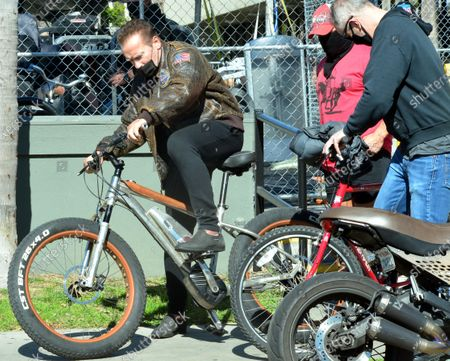 Editorial picture of Exclusive - Arnold Schwarzenegger out and about, Venice, Los Angeles, USA - 12 Feb 2021