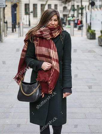 Lucy Horobin arrives at the Global Radio Studios in London.