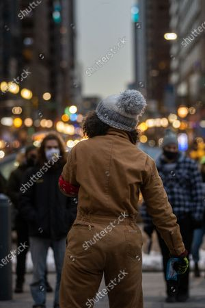 Editorial photo of Protest for Christian Hall, Philadelphia, Pennsylvania, USA - 12 Feb 2021