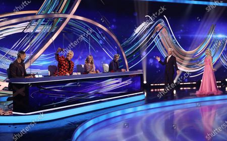 Stock Image of Ashley Banjo, John Barrowman, Jayne Torvill and Christopher Dean, Phillip Schofield and Holly Willoughby