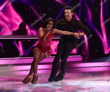 Lady Leshurr and Brendyn Hatfield during the skate off