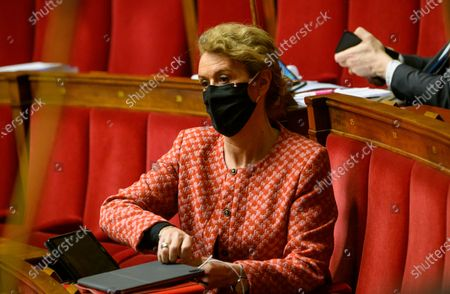 Editorial photo of Examination of the law on the respect of republican principe at the national assembly, Paris, France - 12 Feb 2021